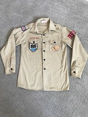 BSA official youth long sleeve scout shirt size youth Large (14-16)