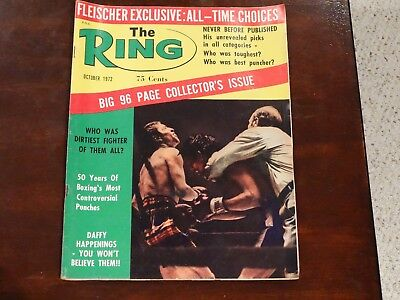 The Ring Magazine. Boxing. October 1972