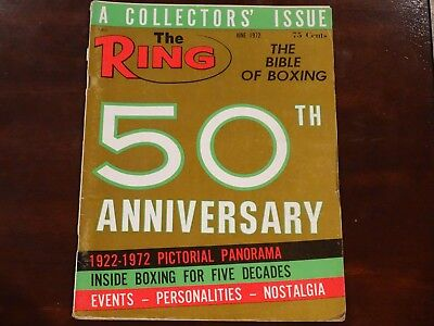 The Ring Magazine. Boxing. June 1972