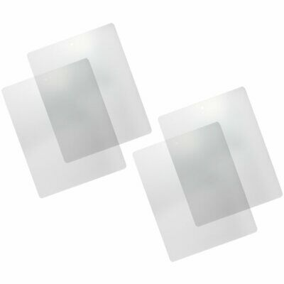 COM-FOUR® 4x Schneidematte, Bastelunterlage, transparent & flexibel, 38 x 30,5cm