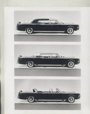 1961 1963 Lincoln Limo Kennedy Assassination ORIGINAL Factory Press Kit wy8111