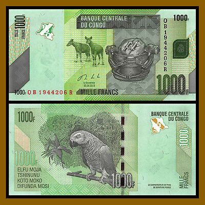 Congo Democratic Republic 1000 Francs, 2013 P-101 Unc