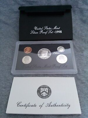 1998 S - U.S. Mint - Silver Proof Set *** COMPLETE / IMMACULATE ***