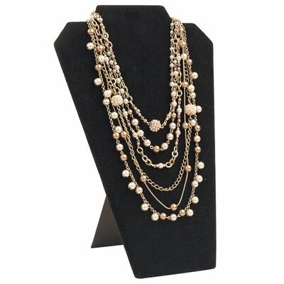 Black Velvet Necklace/pendant Jewelry Display With Easel Stand