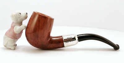 Gbd Sterling Silver - Bent Billiard Smooth Pipe (1918) (Rare & Collectable) 烟斗