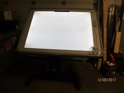 GTCO 3648AL Lighted Digitizer on a CalComp 813 Power Lift Base