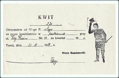Schornsteinfegermeister FILIP Quittung Thorn - 24.10.1929 / Chimney-sweep bill