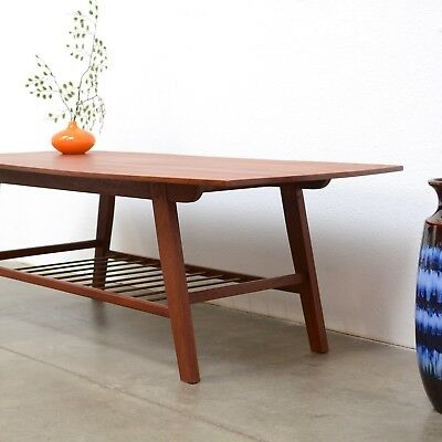 1950s Danish Modern TEAK Coffee Table Mid Century Vintage Eames Era