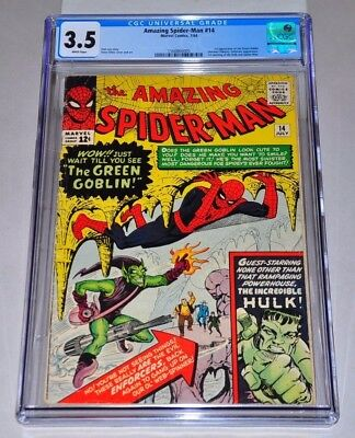 Amazing Spider-Man 14 CGC 3.5 White Pages 1st Green Goblin