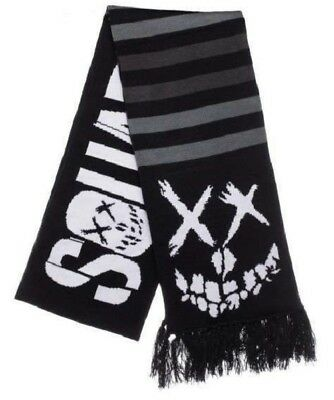 Suicide Squad Jacquard Black and White Scarf by Bioworld