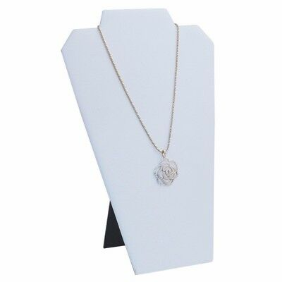 White Leather Necklace/pendant Jewelry Display With Easel