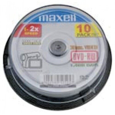 Maxell - 8cm Camcorder DVD-RW 60min 10pcs Spindle Pack