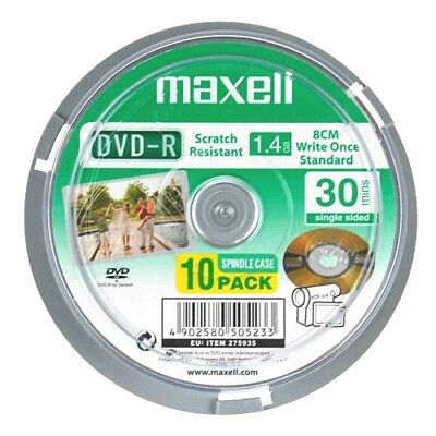 Maxell - 8cm Camcorder DVD-R 30min 10pcs Spindle Pack