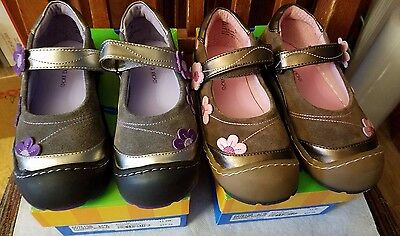 ea1dedf45cc91 $58 NEW JUMPING JACKS Flower Breeze Girls Mary Jane Shoes WIDE