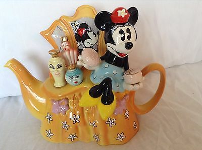 Cardew Collectable Minnie Mouse Dressing Table Novelty Teapot,perfect Condition