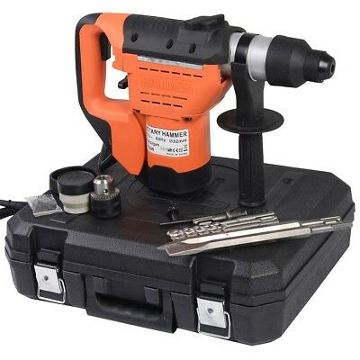 """1-1/2"""" SDS Rotary Hammer Drill Plus Demolition Electric Bits Variable Speed Tool"""