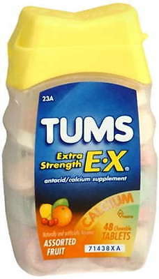 Tums Extra Strength Tablet Fruit 48 ct antacid
