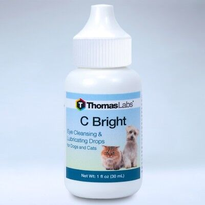 thomas Lab C Bright Eye Dogs & Cats Cleansing & Lubricating Drops 1oz