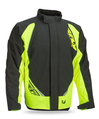 FLY RACING Snow Snowmobile 2017 AURORA Insulated Jacket (Black/Hi-Vis) L (Large)