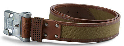 ICON 1000 ELSINORE Cotton/Leather Belt (Brown) L (Large)