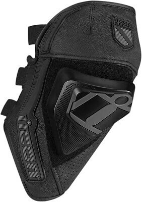 ICON CLOVERLEAF Street Motorcycle Knee Slider/Guard (Black) S/M