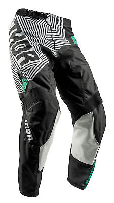THOR MX Motocross Kids 2018 PULSE GEOTEC Pants (Black/Teal) US 22 (Youth)