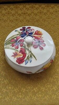 Moorcroft pottery candy bowl with cover excellent