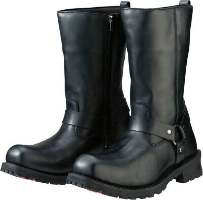 Z1R Men's RIOT Leather Motorcycle Riding Boots (Black) US 15