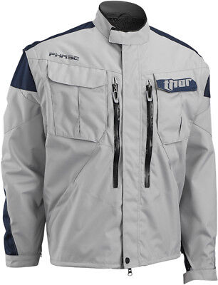 THOR MX Motocross/Offroad/Dual Sport Mens PHASE Jacket (Cement/Navy) 3X-Large