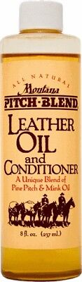 Montana Pitch Blend Leather Oil & Conditioner, 8 oz Bottle, Made In The USA!