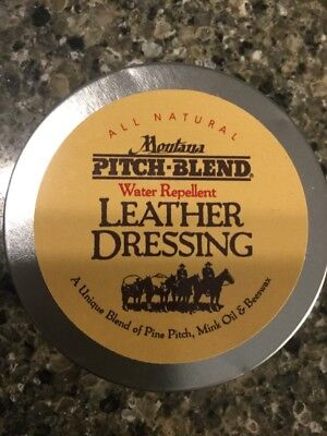 Montana Pitch Blend Tin, 3 Ounces Of Natural Leather Conditioning Balm. US Made!