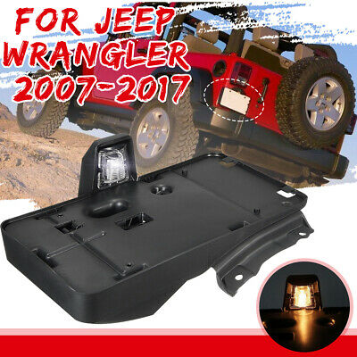 Rear License Plate Mounting Holder Bracket USA Model For Jeep Wrangler 2007-2015