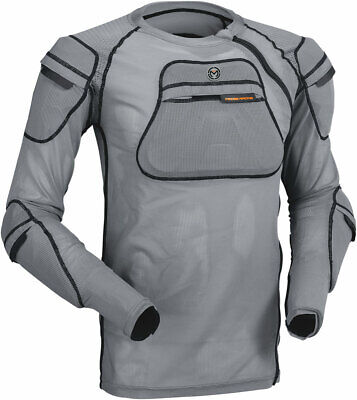 MOOSE Racing MX Motocross XC1 Body Armor Mesh Undershirt (Gray) 2X-3X
