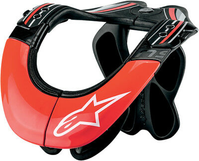 ALPINESTARS Tech Carbon Bionic Neck Support (Black/Red) LG-XL
