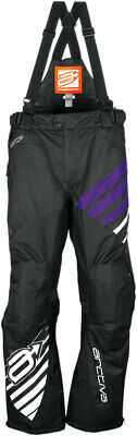Arctiva Snow Snowmobile Women's 2018 COMP Insulated Bibs/Pants (Black/Purple) XL