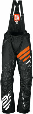 Arctiva Snow Snowmobile Men's 2018 COMP Insulated Bibs/Pants (Black/Orange) 2XL