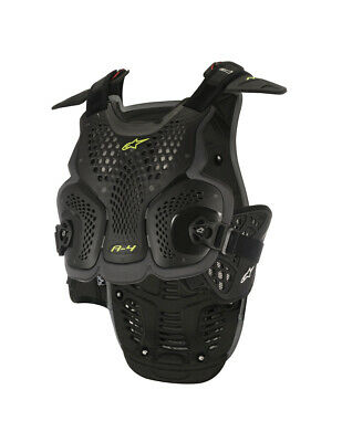 Alpinestars MX A-4 Chest/Back Protector Roost Guard (Black/Anthracite) XS-SM