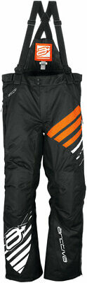 Arctiva Snow Snowmobile Women's 2018 COMP Insulated Bibs/Pants (Black/Orange) XS