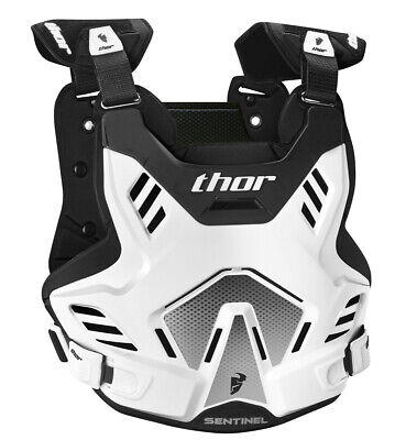 THOR MX Motocross SENTINEL GP Chest Protector/Roost Guard (White/Black) XL-2XL