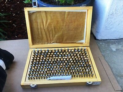 HDT Precision Steel Pin Gage Set Complete .250 to .500 Model H-2  NICE!