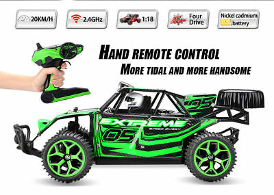 1:18 High Speed RC Racing Car 4WD Remote Control Truck Off-Road Buggy SUV Green