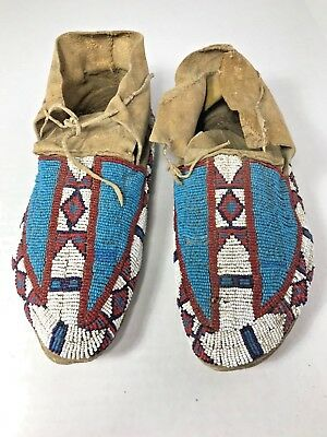 FINE PAIR OF AMERICAN BEADED MOCCASINS -Pair #3