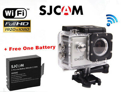 "SJCAM SJ4000 WiFi HD 1080P Action Sport Cam 2.0"" LCD 30M Waterproof DV+Battery"