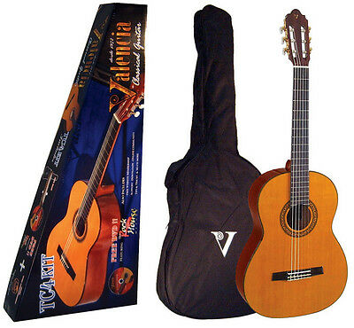 VALENCIA 3/4 QUARTER SIZE CLASSICAL NYLON STRING ACOUSTIC GUITAR w/ GIG BAG