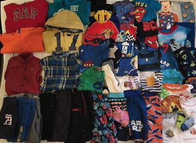 Boys 3-4 Years Bundle, Over 40 Items Gap Next George Pig Mr Tumble Cbeebies