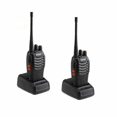 Cyber Monday 2x Baofeng BF-888s UHF CTCSS CDCSS 5KM HandFunkgerät Walkie-Talkie