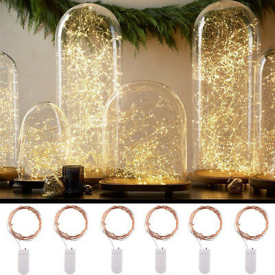 Battery Copper Wire Fairy String Lights Wedding Party Wine Bottle Cork 6x 20 LED