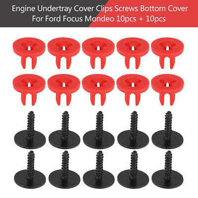 20Pcs Engine Undertray Clips Screws Bottom Cover Guard For Ford Focus Mondeo WD