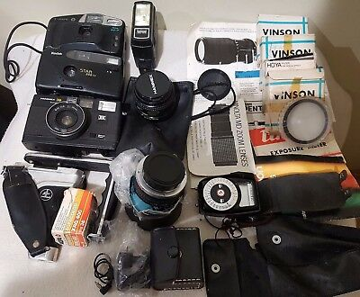 Vintage Cameras, Lenses and assorted items