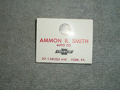 Nos Unused 1960's Ammon R Smith Chevrolet Old Reliable Golf Tee Advertisement